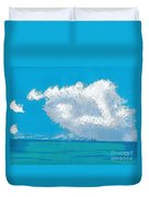 Storm Off The Beach Duvet Cover