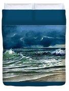 Storm Off Yucatan Mexico Duvet Cover