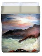 Storm On Mount Desert Island Duvet Cover