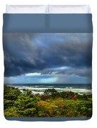 Storm On Oregon Coast Duvet Cover