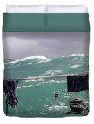 Storm On Tasman Sea Duvet Cover