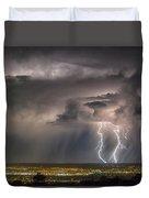 Storm Over Albuquerque Duvet Cover