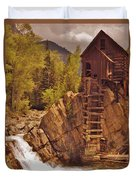 Storm Over Crystal Mill Duvet Cover