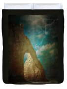 Storm Over Etretat Duvet Cover by Loriental Photography