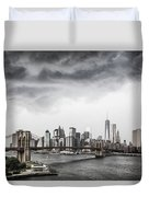 Storm Over Manhattan Duvet Cover