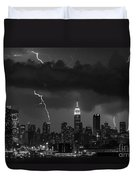 Storm Over Nyc  Duvet Cover