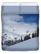 Storm Over The Summit Duvet Cover