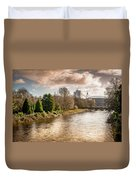 Storm Over The Taf Duvet Cover