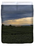 Storm Over The Yakima Valley Duvet Cover