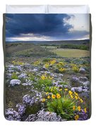 Storm Over Wildflowers Duvet Cover
