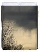 Storm Virga Over Rogue Valley Duvet Cover