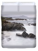 Storm Waves And Cliffs Duvet Cover