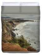 Storms Over A Rugged Coast Duvet Cover