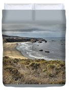 Storms Over An Unspoiled Beach Duvet Cover