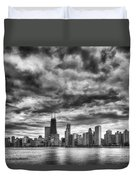 Storms Over Chicago Duvet Cover
