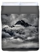 Storms Over Glaciers And Rugged Peaks Duvet Cover