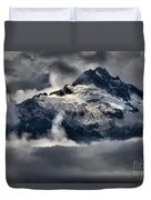 Storms Over Jagged Peaks Duvet Cover