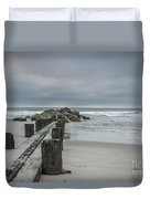 Stormy Beach Forcast Duvet Cover