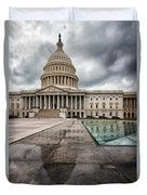 Stormy Capitol Day I Duvet Cover