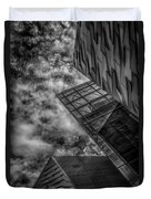 Stormy Clouds Over Modern Building Duvet Cover