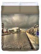 Stormy Day At Alphen Aan Den Rijn Duvet Cover