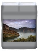 Stormy Day At The Lake  Duvet Cover