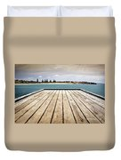 Stormy Jetty Duvet Cover