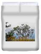 Stormy Marsh Cedar Tree Duvet Cover