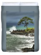 Stormy Maui Morning Duvet Cover