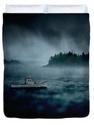 Stormy Night Off The Coast Of Maine Duvet Cover