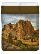 Stormy Over Smith Rock Duvet Cover