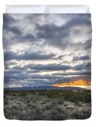 Stormy Santa Fe Mountains Sunrise - Santa Fe New Mexico Duvet Cover
