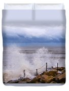 Stormy Seafront - Impressions Duvet Cover
