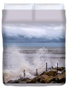 Stormy Seafront  Duvet Cover