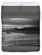 Stormy Skies At Seaton Sands Duvet Cover
