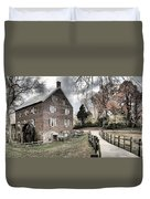 Stormy Skies Over The 1823 Grist Mill Duvet Cover