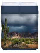 Stormy Skies Over The Superstitions Duvet Cover