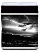 Stormy Sky - Lightening - Small Town Duvet Cover