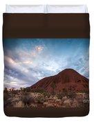 Stormy Sky Over Uluru Duvet Cover