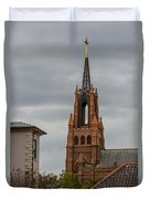 Stormy Steeple Duvet Cover