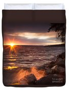 Stormy Sunrise Duvet Cover by Michele Steffey