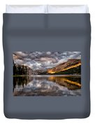 Stormy Sunset At Tenaya Duvet Cover
