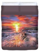 Stormy Sunset At Water's Edge Duvet Cover