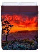 Stormy Sunset Greeting Card Duvet Cover