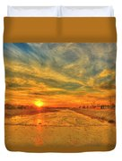 Stormy Sunset Over Santa Ana River Duvet Cover