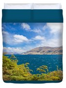 Stormy Surface Of Lake Wanaka In Central Otago On South Island Of New Zealand Duvet Cover