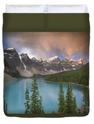 Stormy Weather Over Moraine Lake Duvet Cover