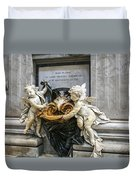 Stoups At The Basilica Duvet Cover