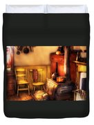 Stove - An Old Farm Kitchen Duvet Cover