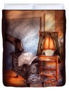 Stove - The Stove And The Chair  Duvet Cover by Mike Savad
